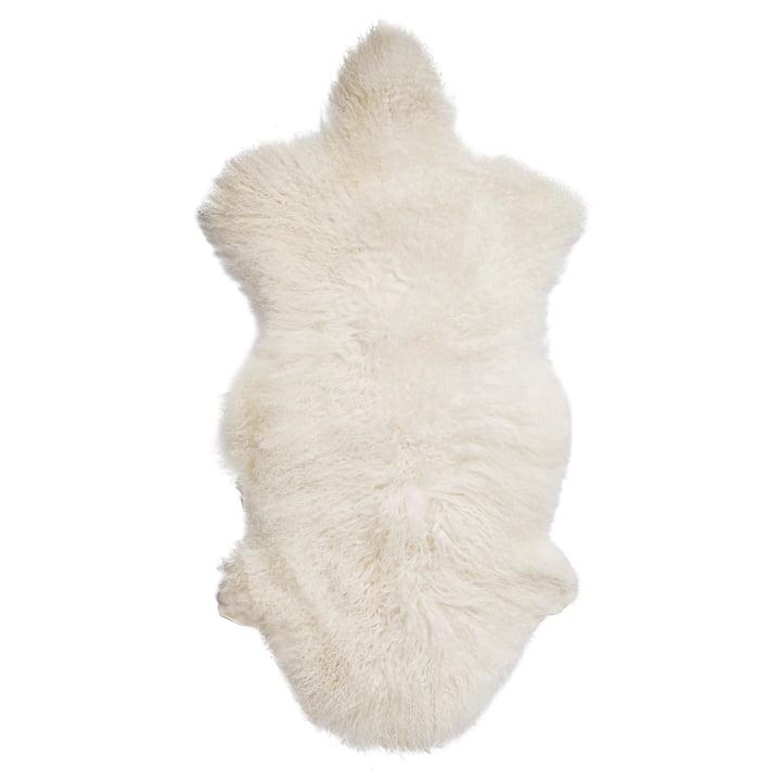 Mongolisches Lammfell von Bloomingville in weiß