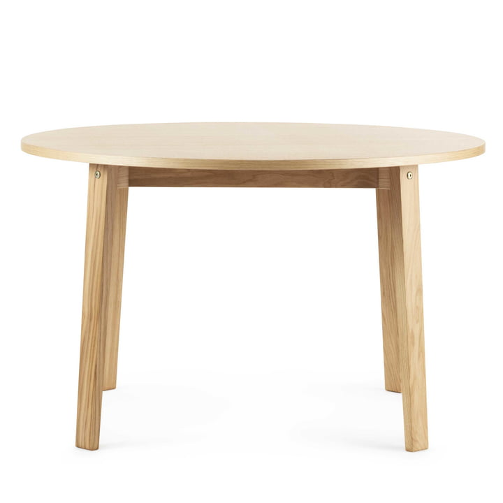 Slice Table Wood Ø 120 cm von Normann Copenhagen in eiche