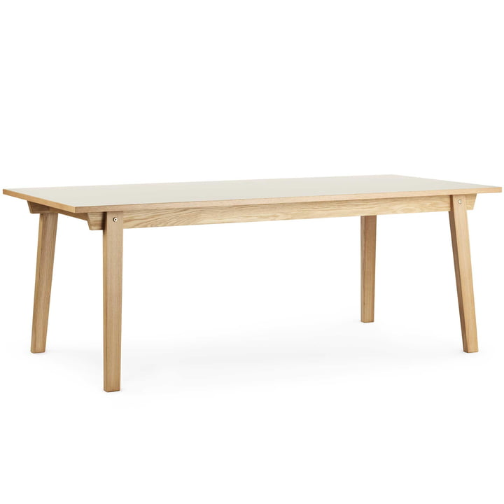 Normann Copenhagen - Slice Table Linoleum 90 x 250 cm, creme