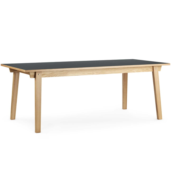 Normann Copenhagen - Slice Table Linoleum 90 x 250 cm, grau