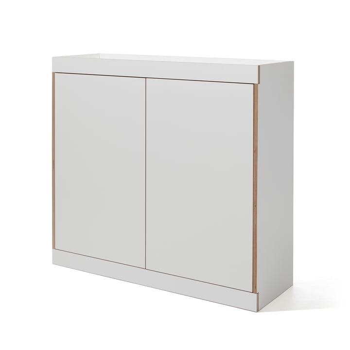 Flai Kommode mit Türen von Müller Möbelwerkstätten in Weiß