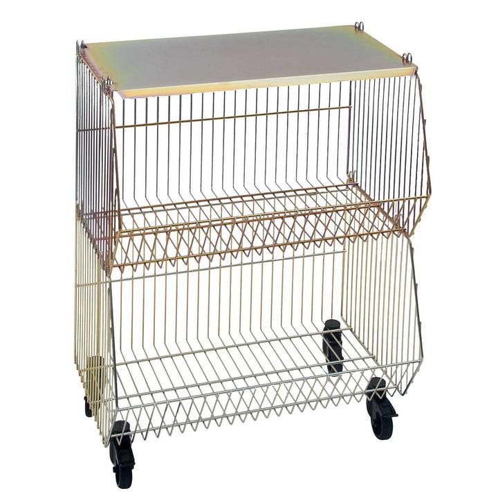 Pension für Produkte - Wohnkorb 2er-Set, gold (gelbverzinkt)