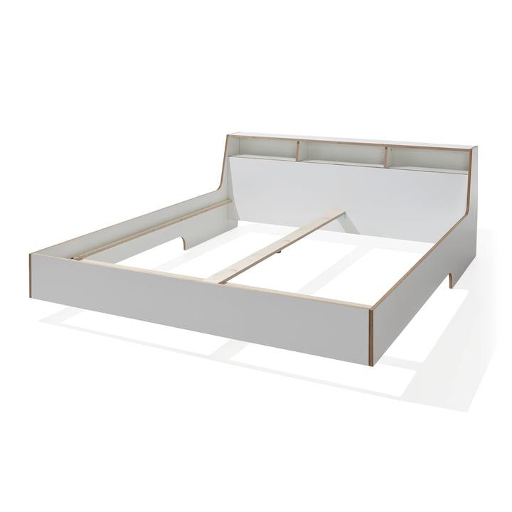 Slope Bett von Müller Möbelwerkstätten in Weiß
