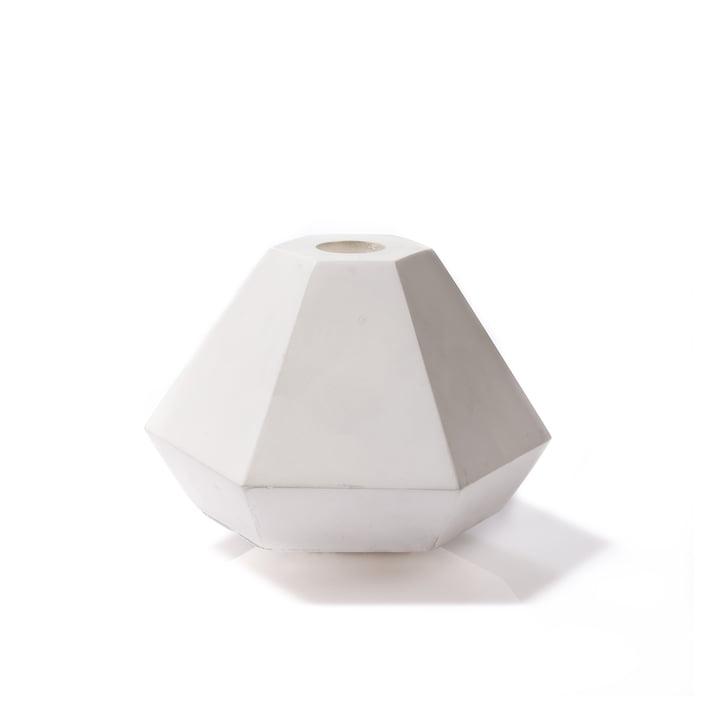 Korridor - Concrete Candle Holder, small, weiß