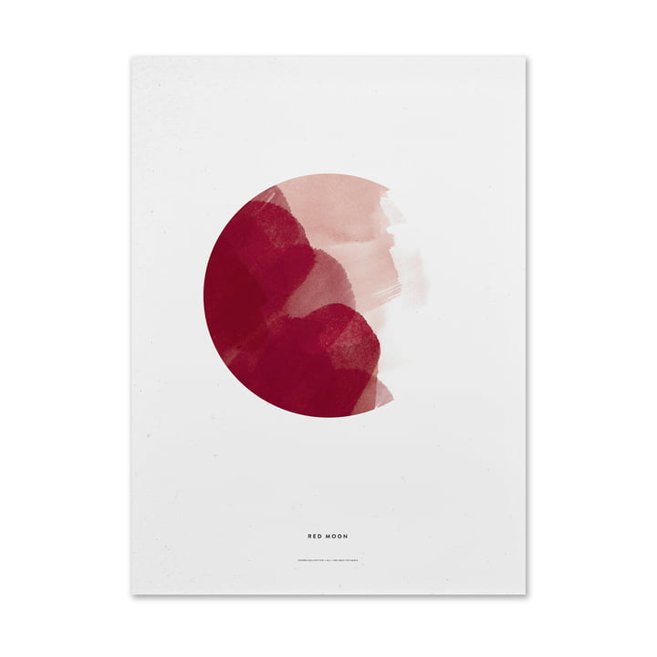 Poster Red Moon von Paper Collective