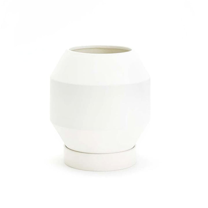 Areaware - Radial Vessels Blumentopf, weiß