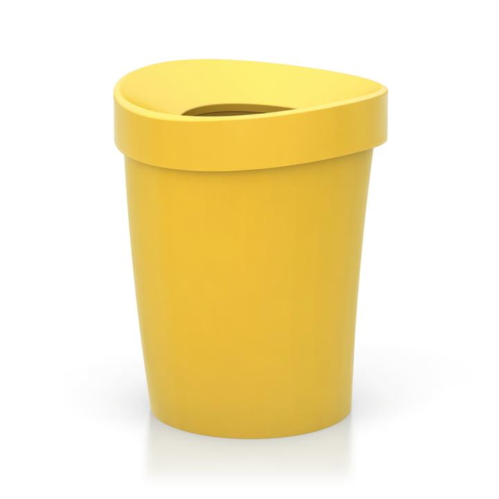 Happy Bin Papierkorb large von Vitra in Gelb