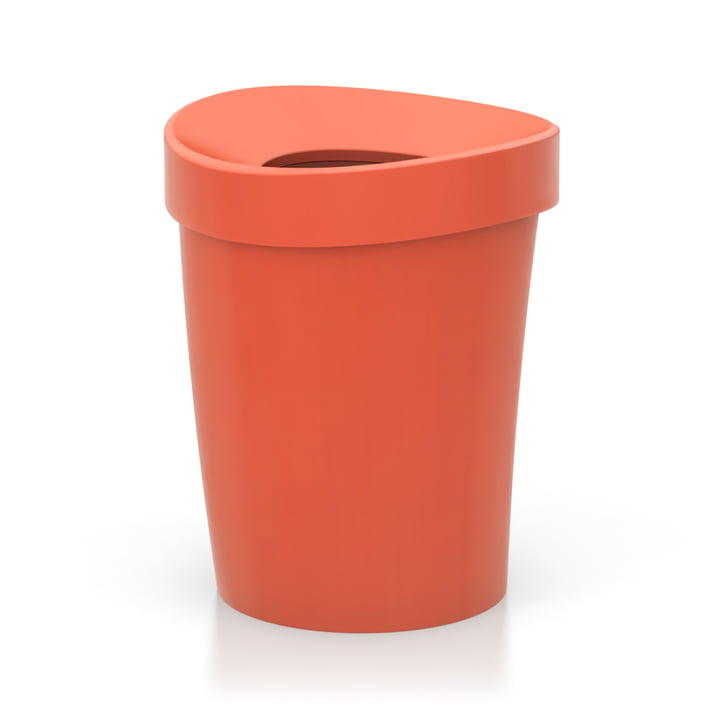 Happy Bin Papierkorb large von Vitra in poppy red