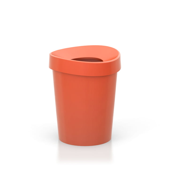 Happy Bin Papierkorb small von Vitra in poppy red