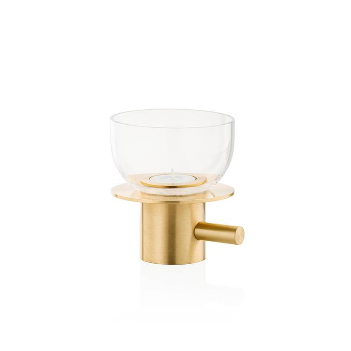 Teelichthalter von Fritz Hansen in Messing / Glas