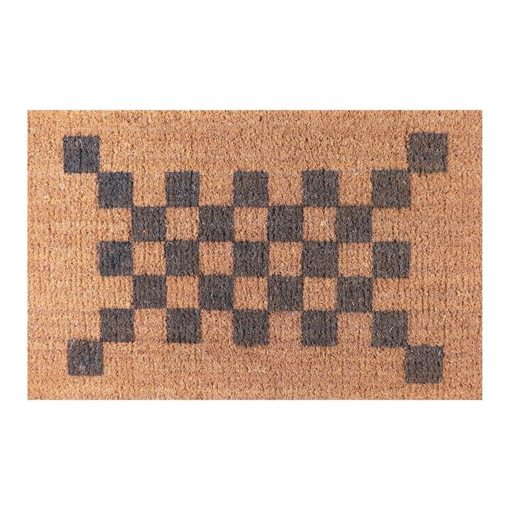 Die Ruckstuhl - Fußmatte mit Karo-Muster grau