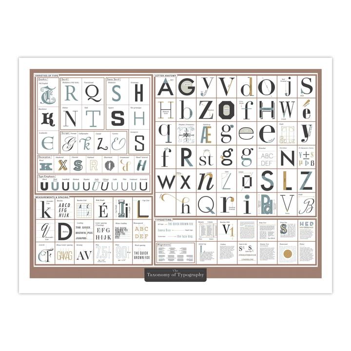 The Taxonomy of Typography 61 x 46 cm von Pop Chart Lab
