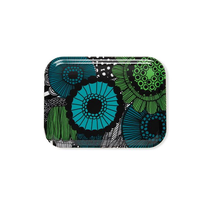 Das Marimekko - Pieni Siirtolapuutarha Tablett 27 x 20 cm, graublau / grün
