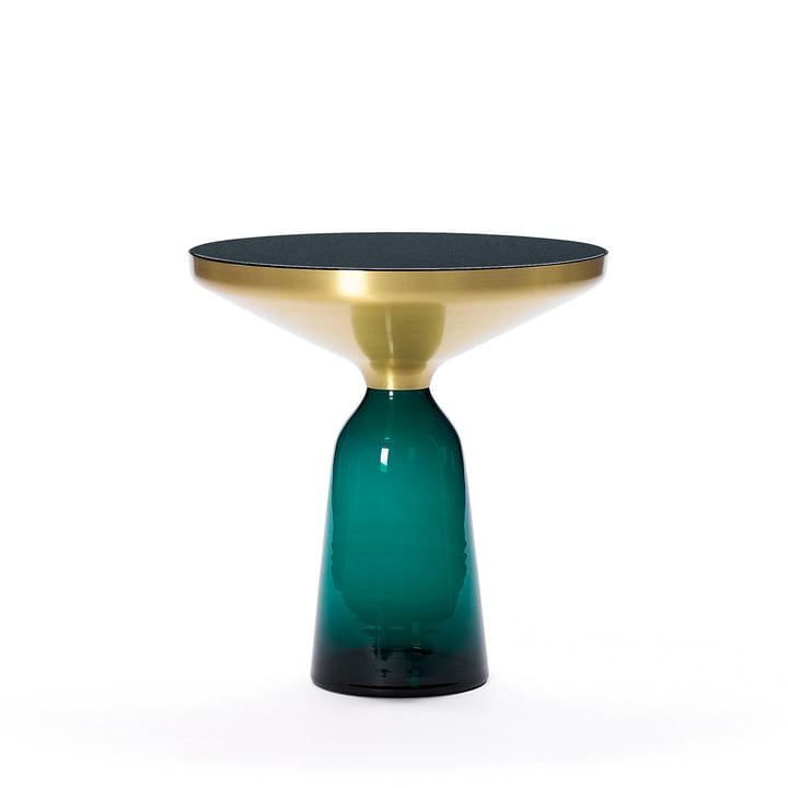 Bell Beistelltisch von ClassiCon in Messing / Smaragd-Grün