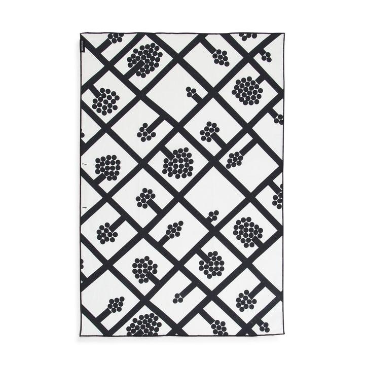 Das Marimekko - Spaljé Geschirrtuch, schwarz / weiß