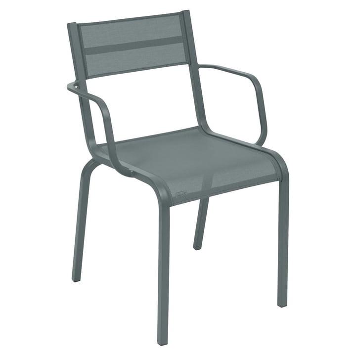 Oléron Sessel von Fermob in Gewittergrau