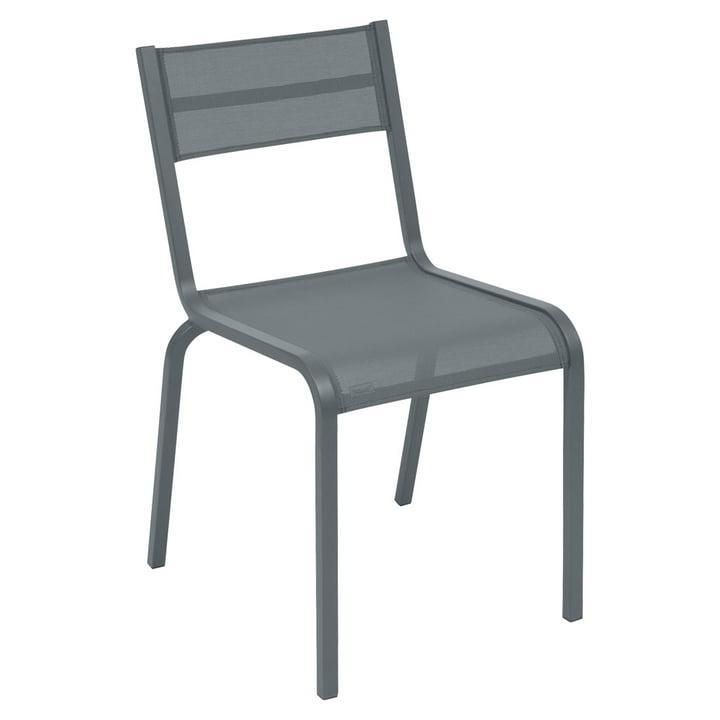 Oléron Stuhl von Fermob in Gewittergrau