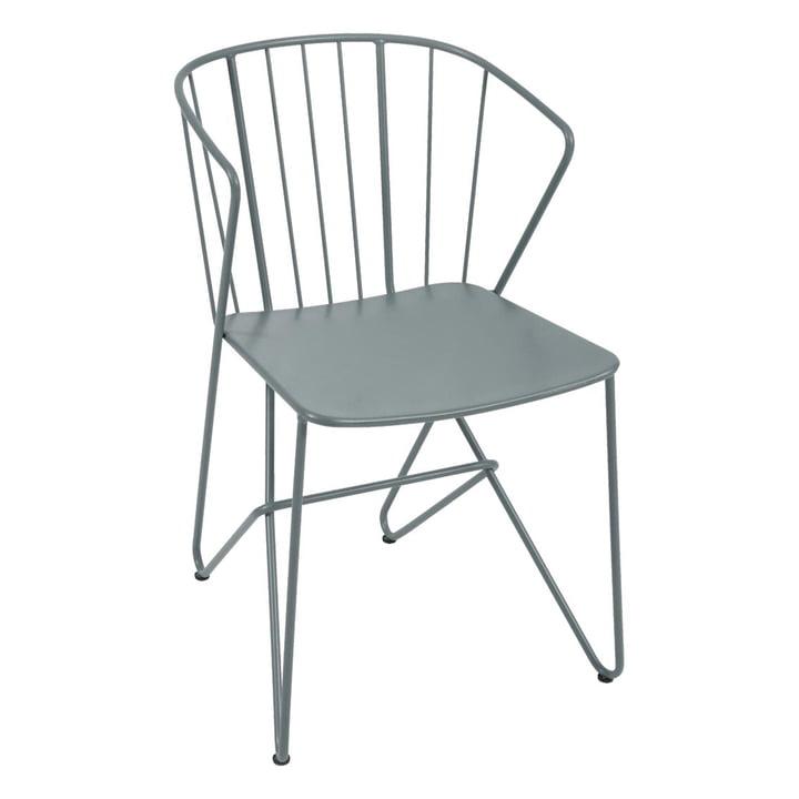Flower Sessel von Fermob in Gewittergrau