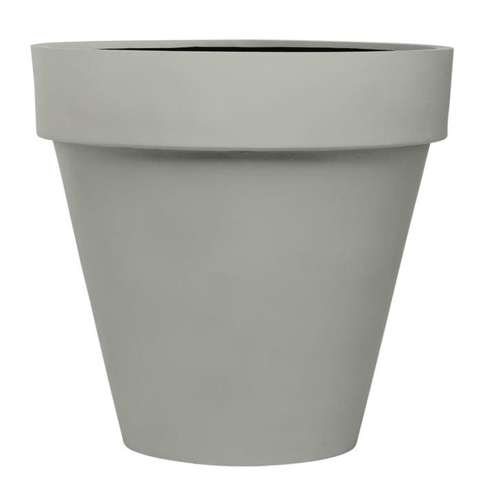 Der mit dem Rand Pflanzgefäß XL von Amei in Grau