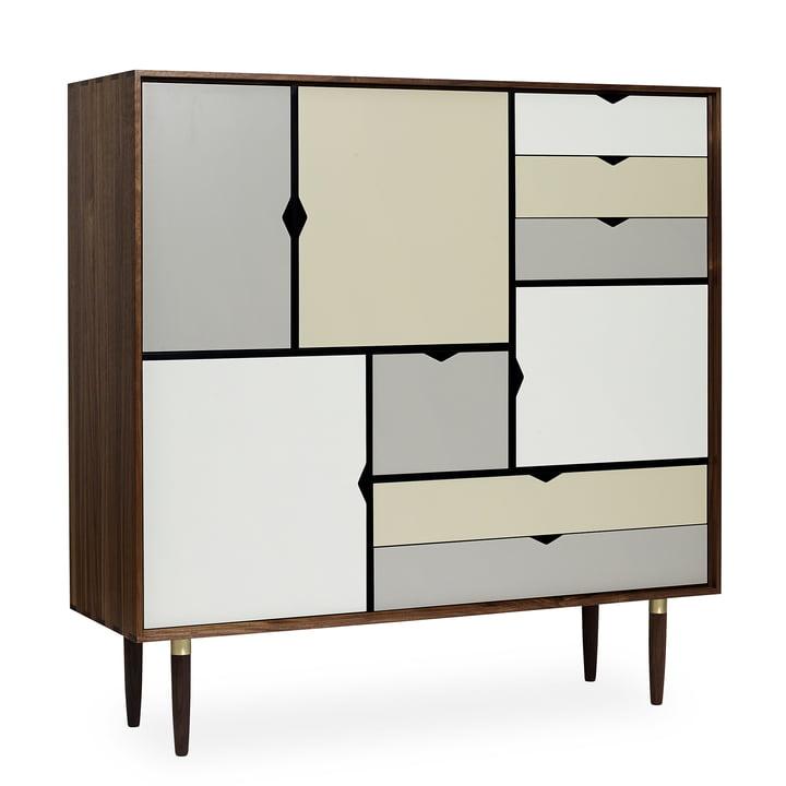 S3 Kommode von Andersen Furniture in Walnuss geölt (Fronten Silber, Beige, Metallgrau)