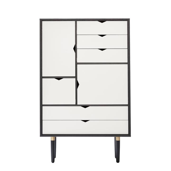S5 Kommode von Andersen Furniture in Eiche schwarz lackiert / Fronten weiß