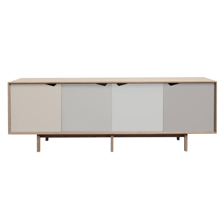Andersen Furniture - S1 Sideboard, Eiche geölt/ Türen Doeskin, Iron, Silver, Iron