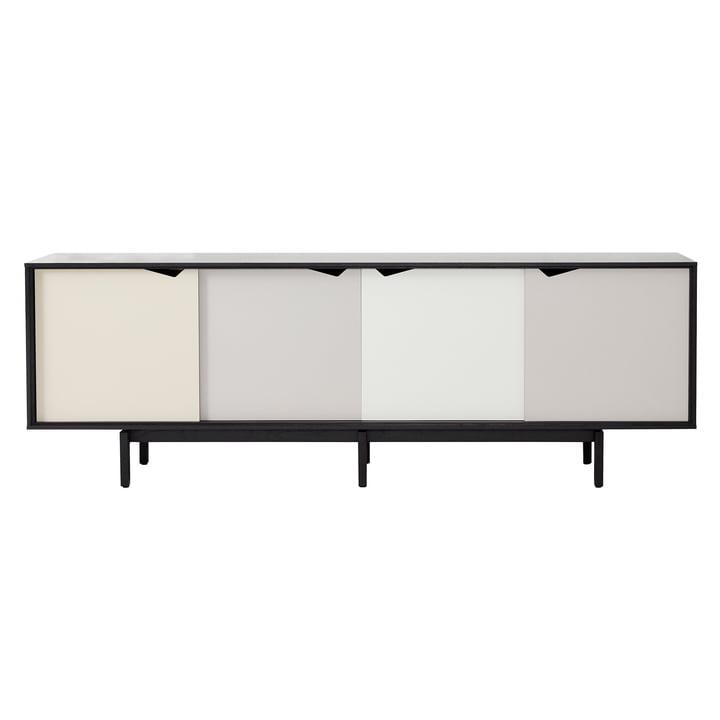 S1 Sideboard von Andersen Furniture in Eiche schwarz lackiert (Türen Doeskin, Iron, Silver, Iron)
