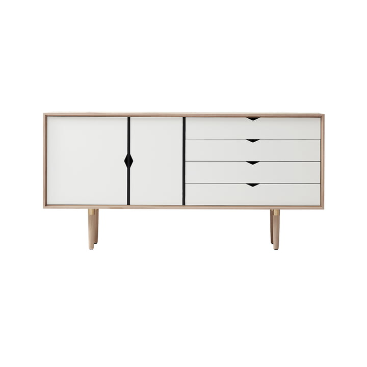 S6 Sideboard von Andersen Furniture in Eiche geseift/ Fronten weiß