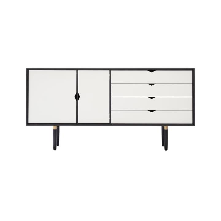 S6 Sideboard von Andersen Furniture in Eiche schwarz lackiert/ Fronten weiß