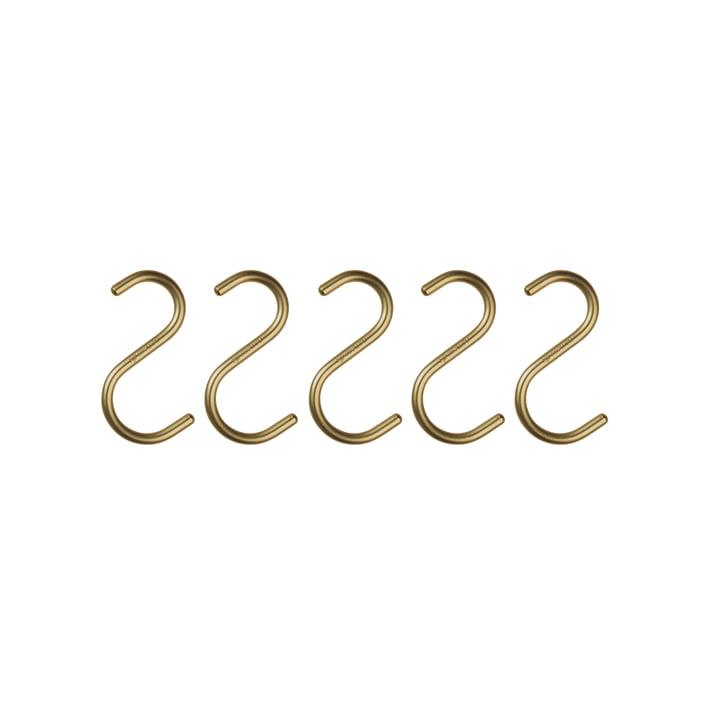 Nomess - S-Hook Mini, matt gold (5er-Set)