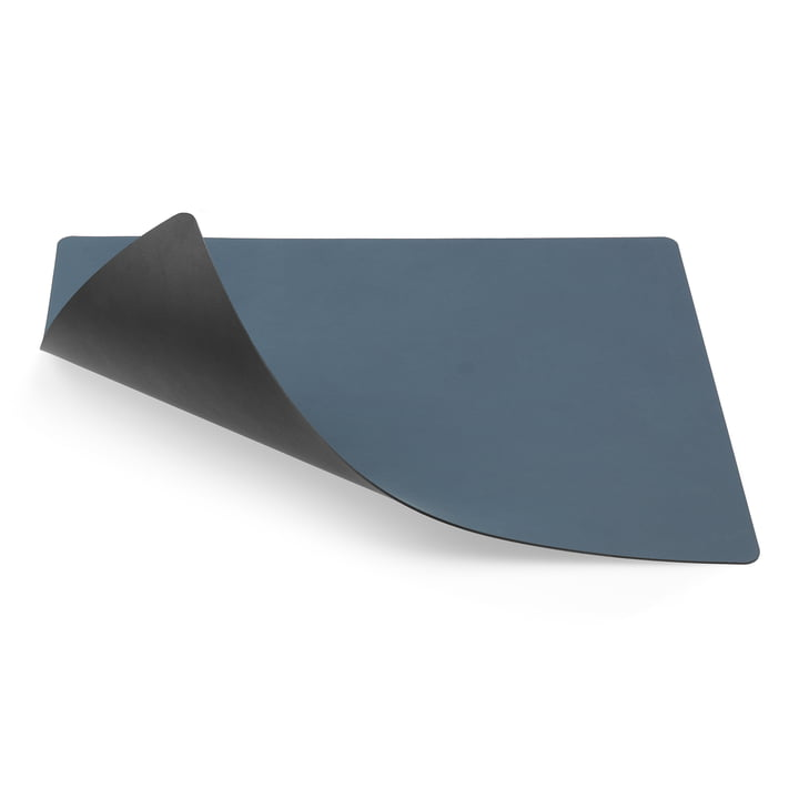 Tischset Square L double 35 x 45 cm von LindDNA in Nupo dunkelblau / Nupo schwarz
