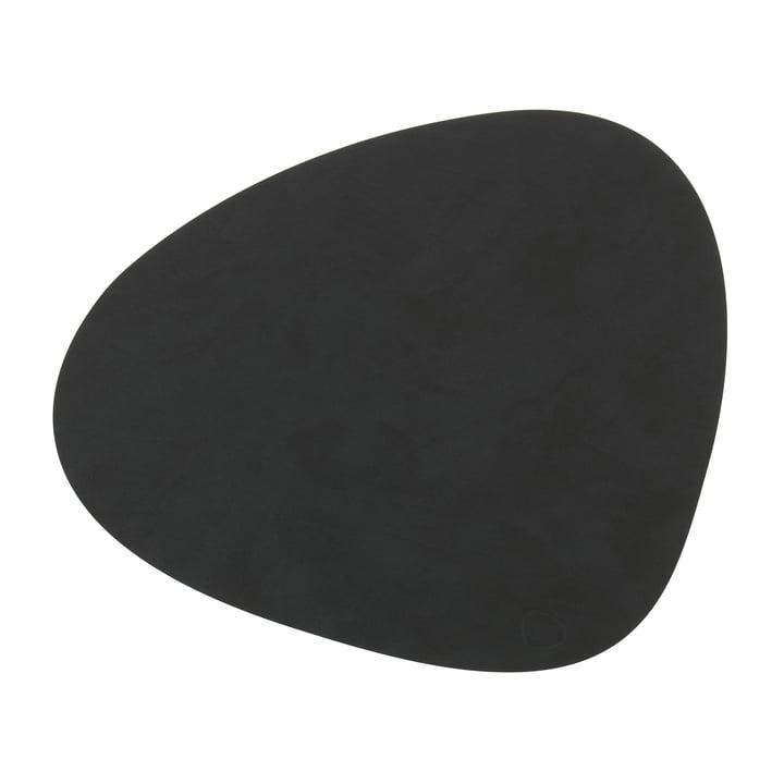 Tischset Curve L von LindDNA in Nupo schwarz