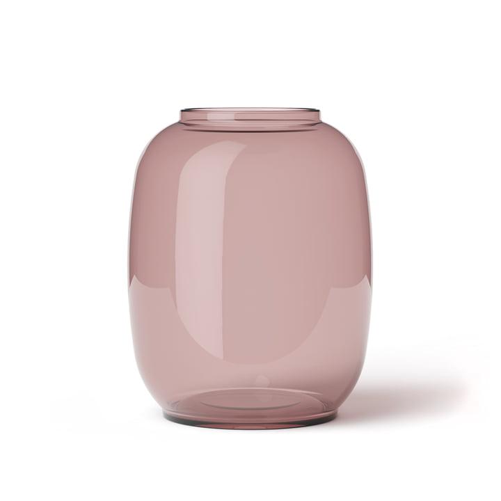 Form Vase Transparent 140/2 von Lyngby Porcelæn in Burgundy
