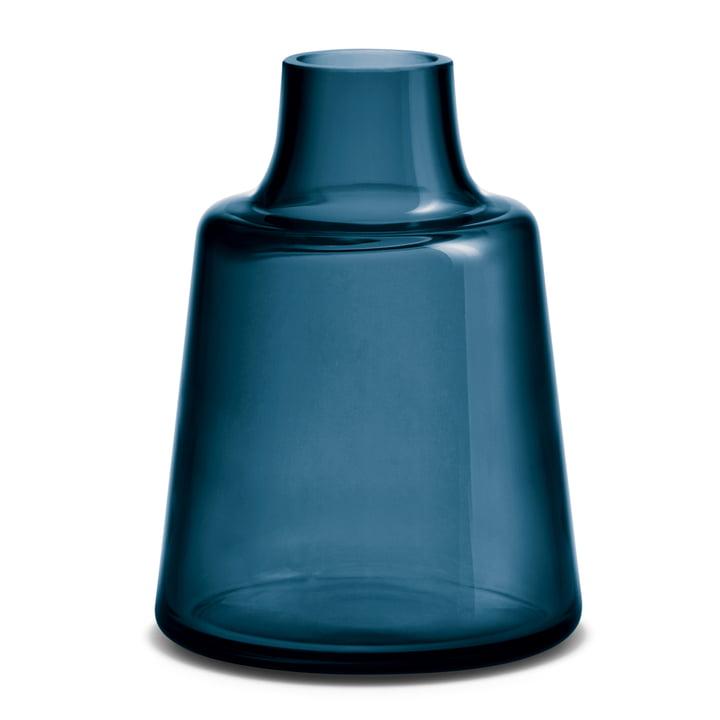 Flora Vase kurzer Hals 24 cm von Holmegaard in Blau