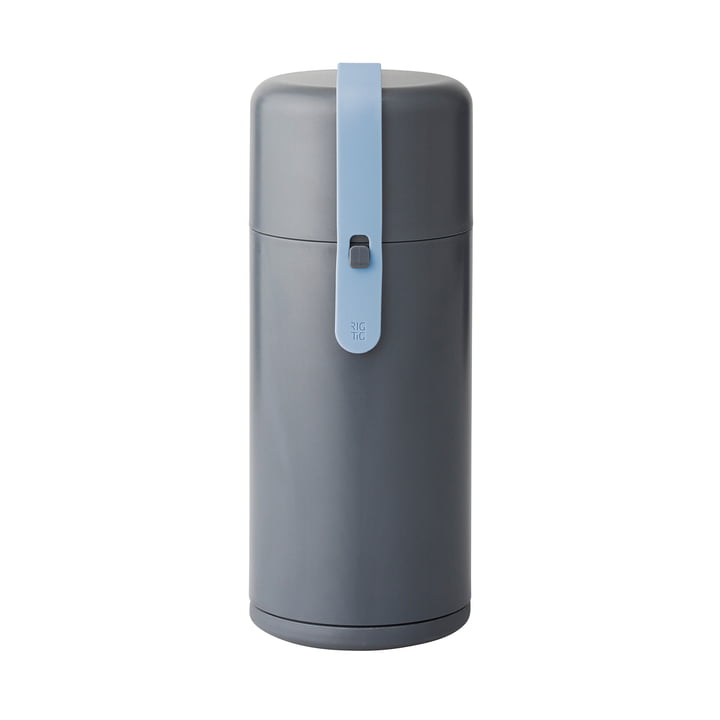 Rig-Tig by Stelton - Keep-It Cool Wasserflasche, blaues Silikonband