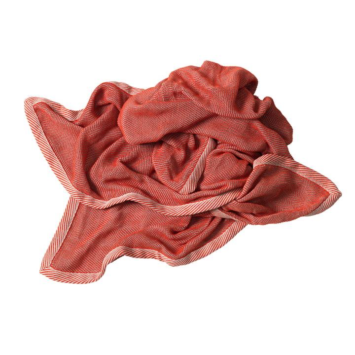 Ripple Decke von Muuto in Rot