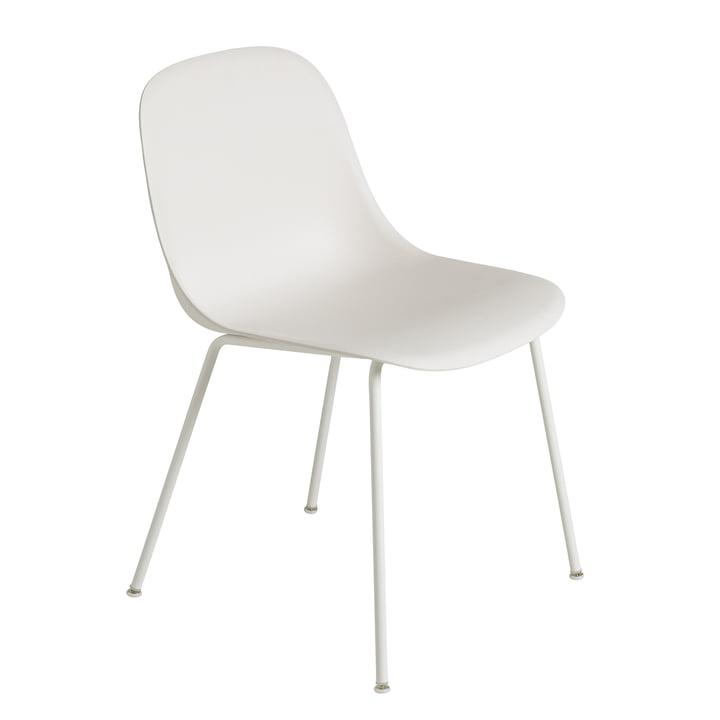 Fiber Side Chair Tube Base von Muuto in naturweiß / weiß