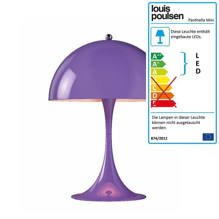 Panthella Mini Tischleuchte Ø 25 cm von Louis Poulsen in Violet