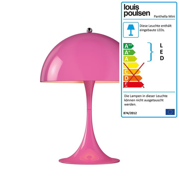 Panthella Mini Tischleuchte von Louis Poulsen - Ø 250, pink