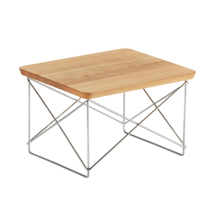 Eames Occasional Table LTR von Vitra in Eiche / Chrom