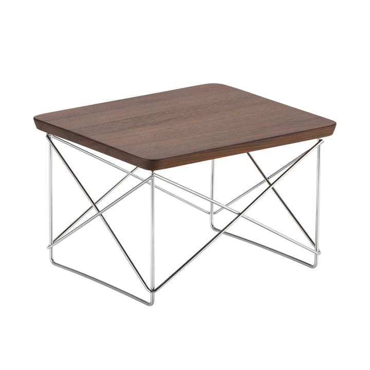 Eames Occasional Table LTR von Vitra in Walnuss / chrom