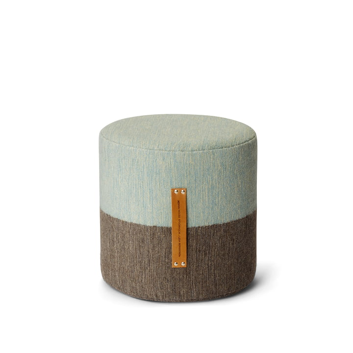 Design House Stockholm - Fields Pouf, braun / blau