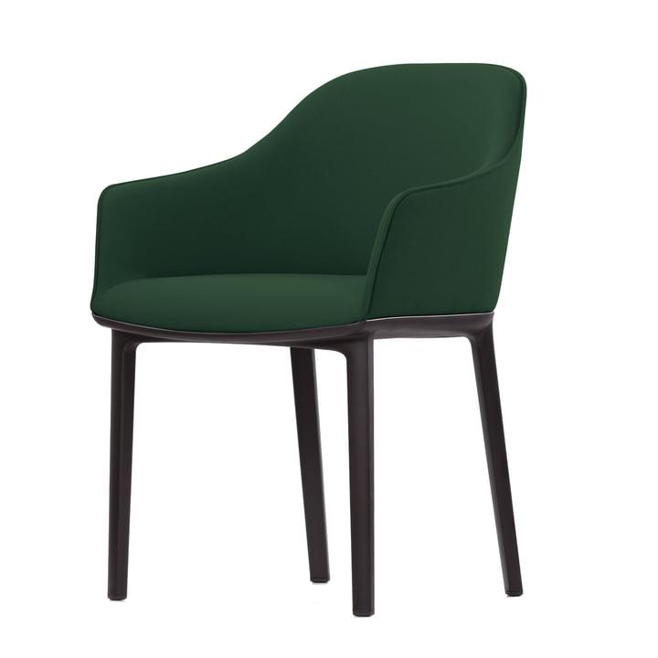 Softshell Chair Vierbeinfuß Chocolate von Vitra in Aura Jagdgrün