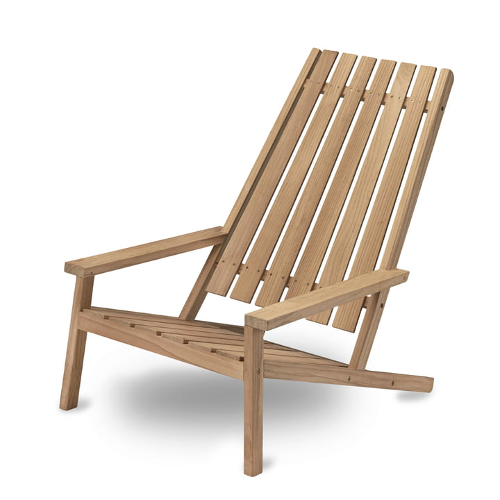 Between Lines Deck Chair von Skagerak aus Teakholz