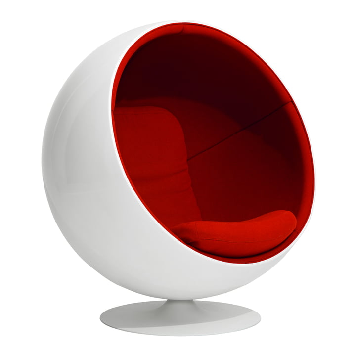 Ball Chair von Eero Aarnio Originals in Rot (Tonus 4/130)