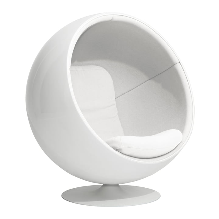 Ball Chair von Eero Aarnio Originals in Weiß (Hallingdal 65/100)