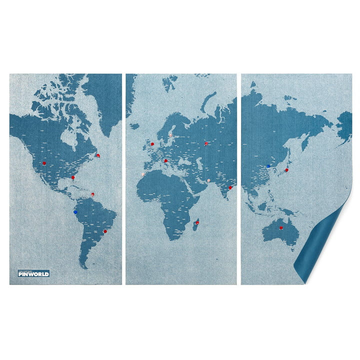 Die Palomar - Pin World in light blue, extra large