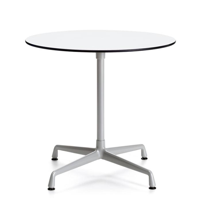 Contract Table Outdoor rund von Vitra in Weiß/ Silber
