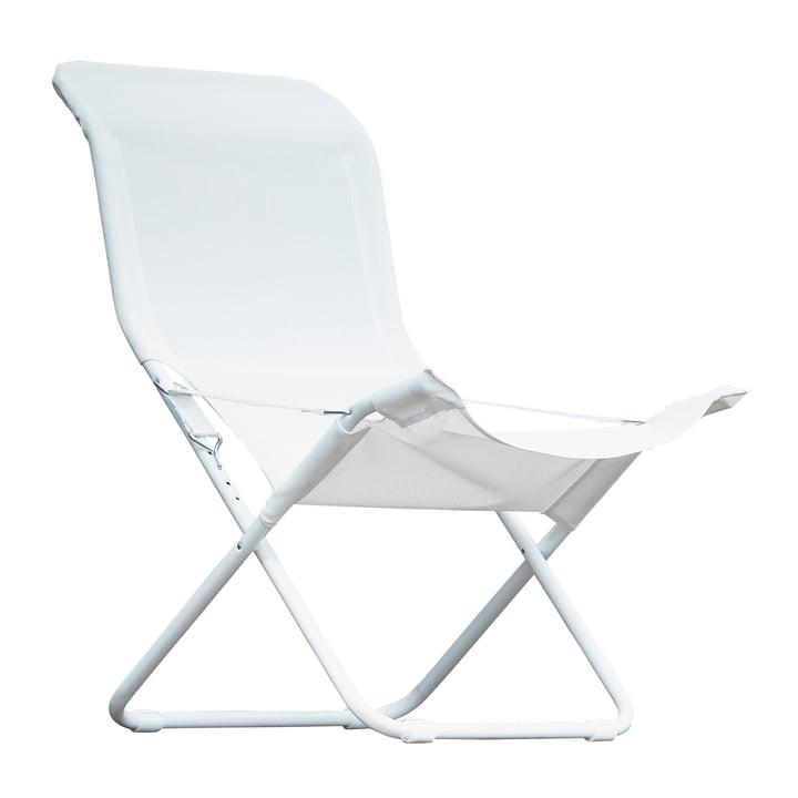Fiam - Fiesta Sessel, Aluminium weiß / weiß