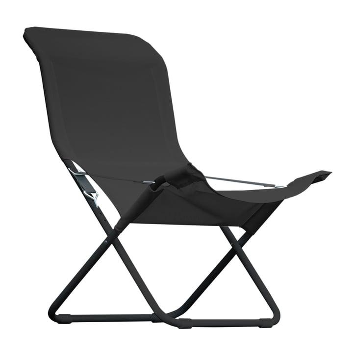 Fiam - Fiesta Sessel, Aluminium schwarz / schwarz